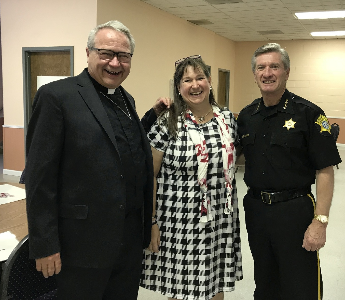 First Responders Rev Scotty Brock Beth Eskridge Sheriff Leon Lott 3596